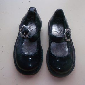 BABY GAP Black Patent Shoes Toddler Size 6